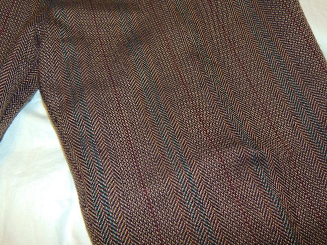 Counterparts Slacks Trouser Pants Brown, red, gold, green
