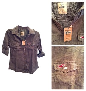 Hollister Button Down Shirt Army Green