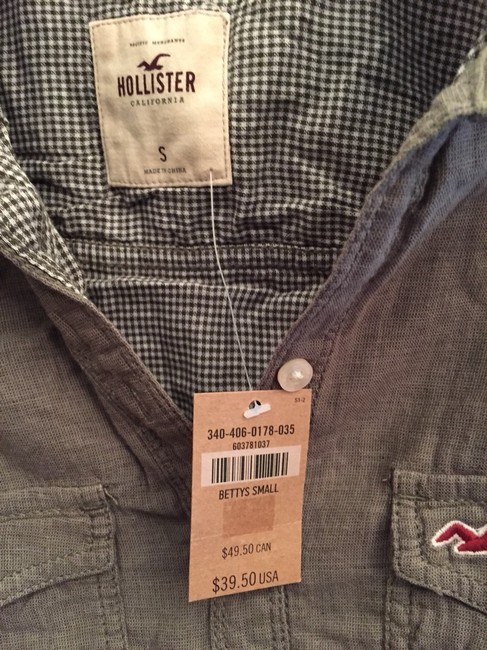 Hollister Button Down Shirt Army Green Image 3