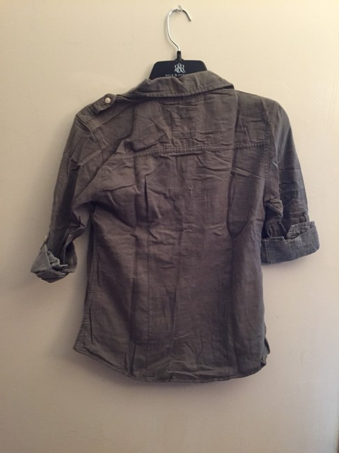 Hollister Button Down Shirt Army Green Image 4