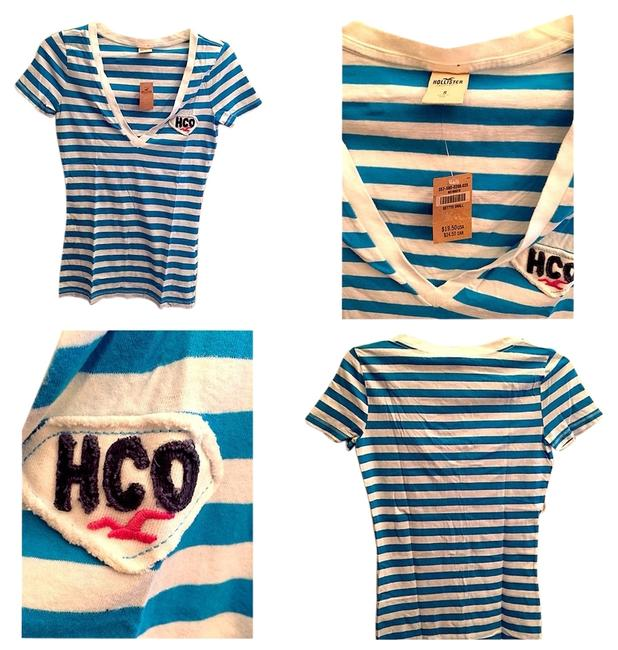 Hollister T Shirt Baby Blue