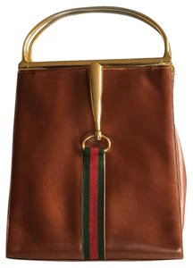 Gucci Snaffle Vintage Satchel in Brown