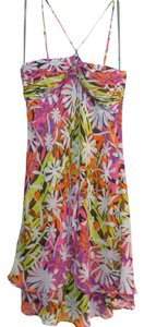 BCBGMAXAZRIA Silk Bcbg Floral Summer Dress