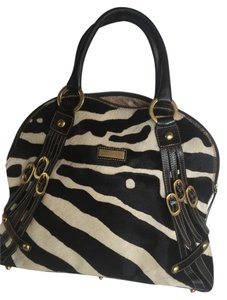 Marco Buggiani Satchel in Black and Cream