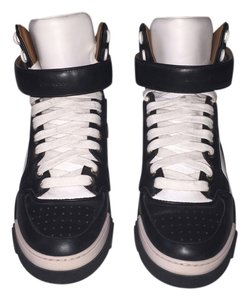 Givenchy Sneakers Leather High Top Black and White Athletic