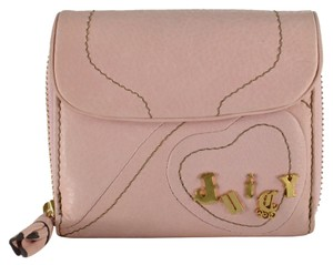 Juicy Couture Small Soft Leather Heart Wallet Pink