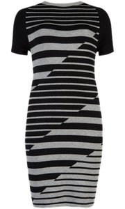 Ted Baker short dress Black & Grey Striped Stretchy on Tradesy