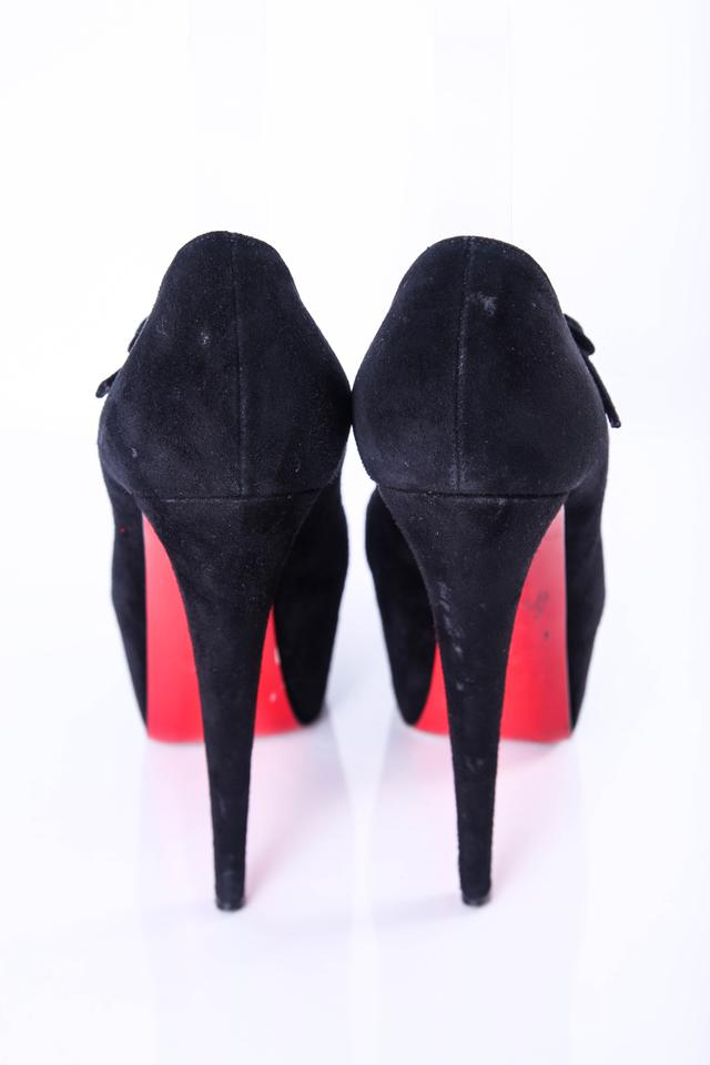 8074169109b5 Christian Louboutin Black Lady Daf 160mm Suede Mary Jane Pumps 38.5 8.5  Platforms Size US 8.5 Regular (M