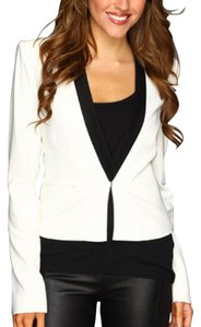 BCBGMAXAZRIA Tuxedo Jacket WHite/Black Color Black Blazer