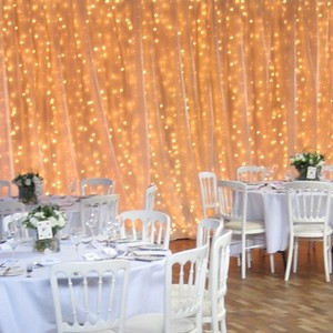 20' X 10' White Chiffon Backdrop Wedding Event Clearance