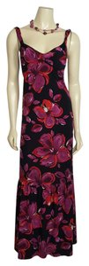 mulberry, black, red and white Maxi Dress by A.B.S. by Allen Schwartz