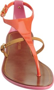 Sergio Rossi Pvc Jellies Flats Orange Sandals