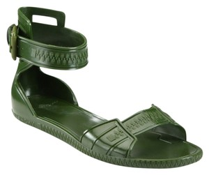 Givenchy Jelly Olive Green Sandals