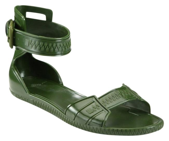 Item - Olive Green Jelly Sandals Size US 7