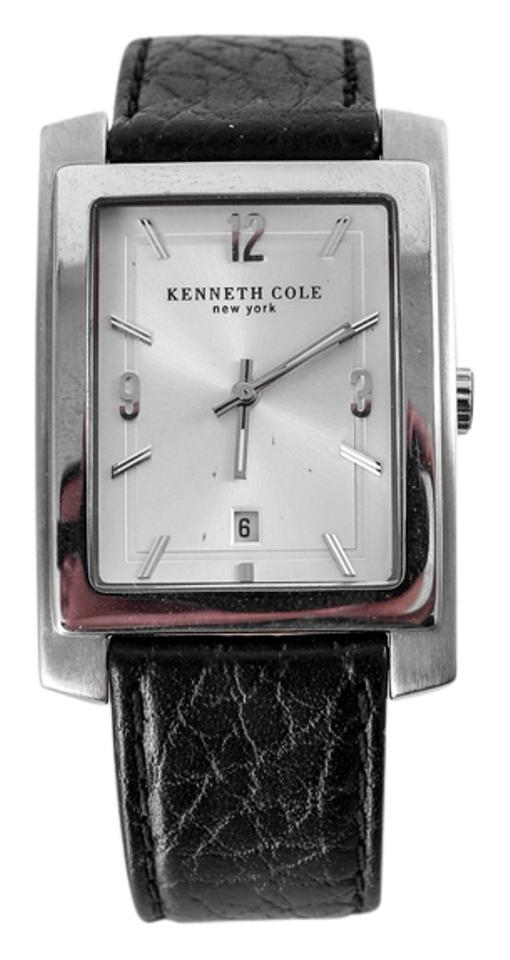 4c87994a933 Kenneth Cole KENNETH COLE MEN S STAINLESS STEEL DRESS WATCH WITH BLACK  LEATHER BAND KC-1348 .