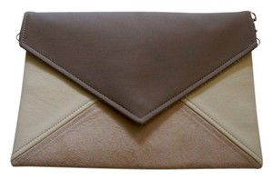 cocoono Minimalist Faux Leather Suede beige Clutch