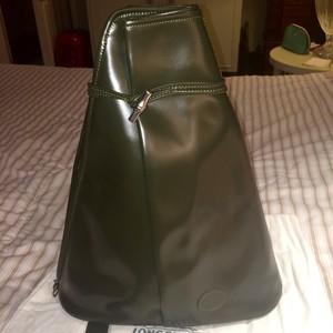 Longchamp Leather Backpack Zipper Shoulder Bag