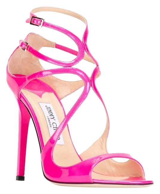 Item - Lance Pink Patent Leather Strappy 5 Sandals Size US 6.5