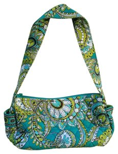 Vera Bradley Paisley Lime Brown Retired Shoulder Bag