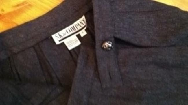 sk & company Wool Midi Quality Professional Office Suit Wool Wool Pleats Pleated Downton Abby Edith English Skirt gray