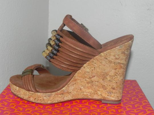 Tory Burch Brown Almond Wedges