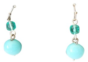 Marks & Spencer Hypoallergenic Turquoise Silver Dangle Earrings by Marks & Spencer New On Card