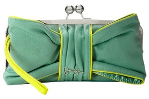 Jessica Simpson Green/Yellow Clutch