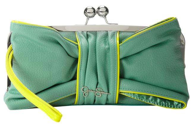 Item - Green/Yellow Faux Leather Clutch
