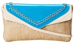 Jessica Simpson Natural/Turquoise/Cream Clutch