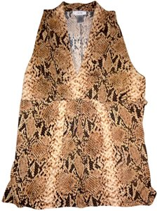 Cache Top Brown/Black Snake Print