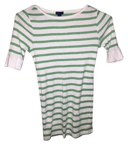 Lilla P T Shirt White with Green stripes