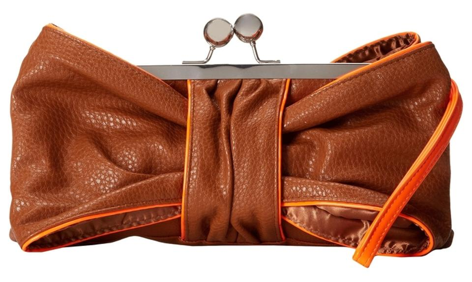 173b6aa79d7 Jessica Simpson Brown Faux Leather Clutch - Tradesy