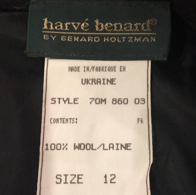 Harvé Benard Wool Vintage 12 Skirt Gray