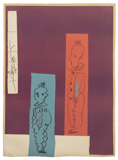 "Pablo Picasso PABLO PICASSO - ""Deux Clowns"" - Authentic Lithograph 14/50"