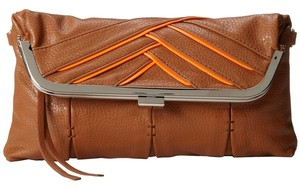 Jessica Simpson Brown/Orange Clutch