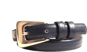 Honors navy blue slim leather belt