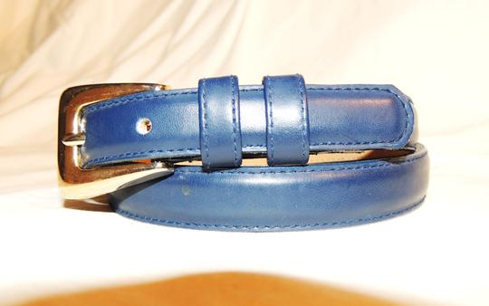 Other Honors navy blue slim leather belt