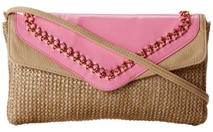 Jessica Simpson Natural/Soft Pink Clutch