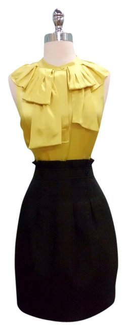 Preload https://item2.tradesy.com/images/bcbgmaxazria-black-jacquard-and-yellow-bcbg-max-azria-ruffle-combo-short-cocktail-dress-size-2-xs-1495781-0-0.jpg?width=400&height=650