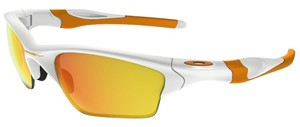 Oakley Oakley OO9154-52 White/Fire Lens Sunglasses