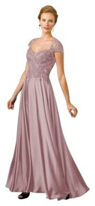 Jade Couture Mother Of The Bride Lace Chiffon Wedding Cap Sleeves Dress