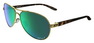 Oakley Oakley OO4079-20 Gold/Green Lens Sunglasses