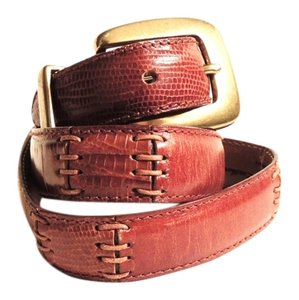 Fossil Fossil brown Italian leather alligator style belt