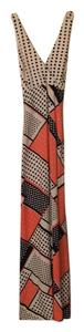 Orange / white / black Maxi Dress by Other