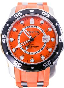 Invicta Invicta 6990 Men's Pro Diver GMT Swiss Orange Dial Orange Rubber Strap Watch