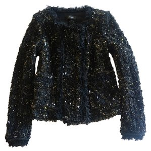 Isabel Marant Sequin Fringe Black Jacket