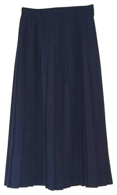 Preload https://item5.tradesy.com/images/dark-navy-pure-summer-wool-pleated-s-small-quality-midi-skirt-size-4-s-27-149584-0-1.jpg?width=400&height=650