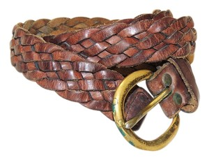 Other Brown braided leather belt