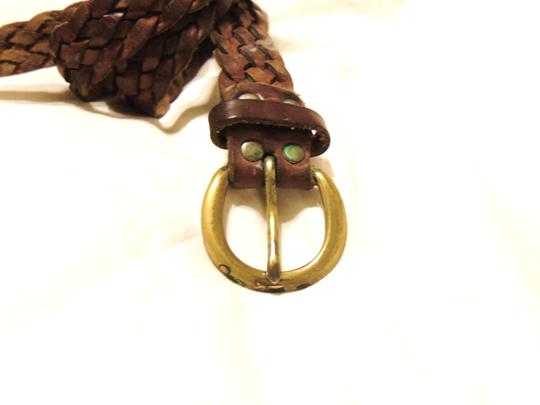 Other Brown braided leather belt Image 1