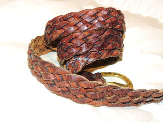 Other Brown braided leather belt Image 3